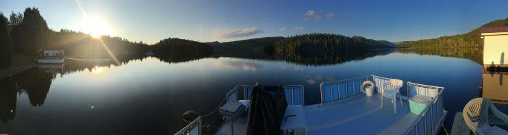 Camille nous a accueillis au bord du Lac Rouge dans le Saguenay