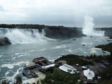 Arrivée sur les chutes du Niagara
