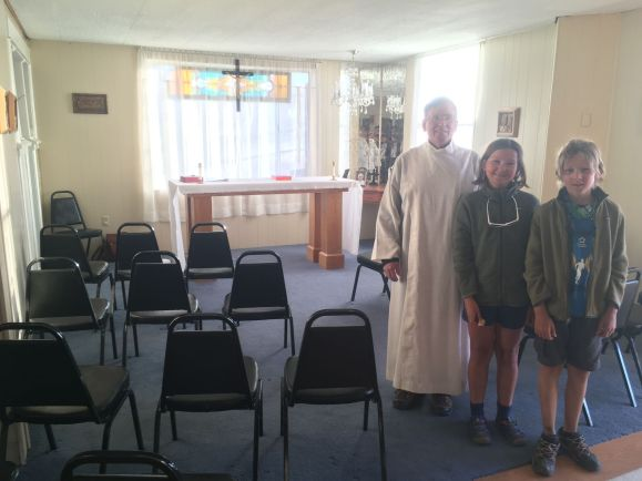 Dans l'église d'Escalante