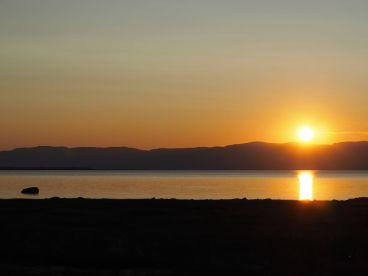 ...Avec de superbes couchers de soleil...