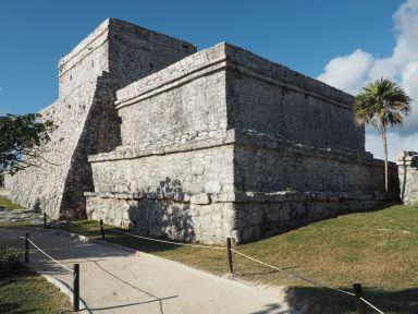 Cette place forte maya est bien conservée