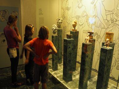 Visite du musée de la culture maya