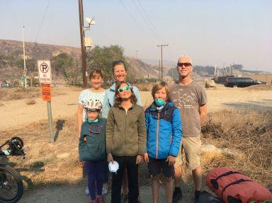Marianne et Lewis nous font faire un saut de 40 km pour éviter de trop subir la fumée. Merci !