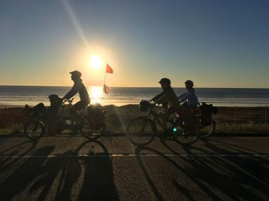 Fin d'une belle journée de vélo