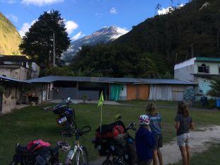 le volcan Tungurahua depuis le camping