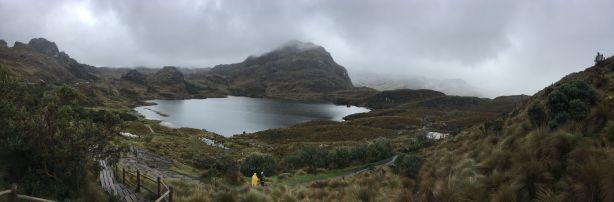 Le parc Cajas. Anciens glaciers devenus lac