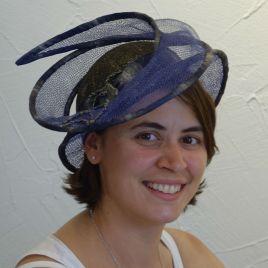 Chapeau en sisal bleu