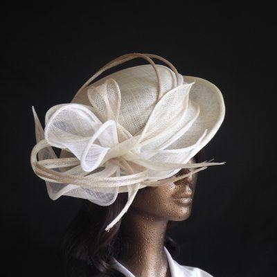 Chapeau de mariée- sisal - 120€