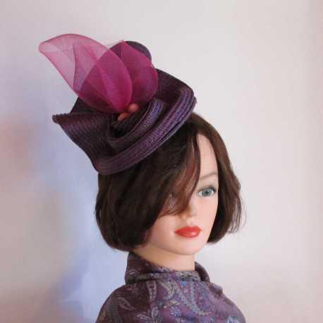 parure de tête violette avec perles - Vue générale