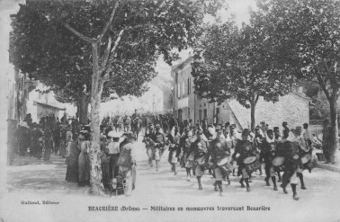 Beaurières Manoeuvre militaire