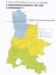 Carte administrative Drôme Die 2017