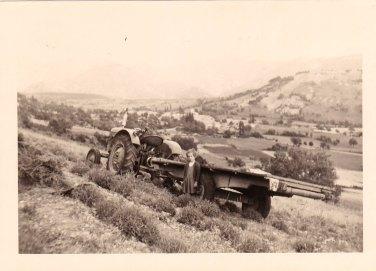 été 1958 Tracteur dans le champ de lavande