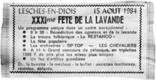 Annonce JDD 15.08.1984