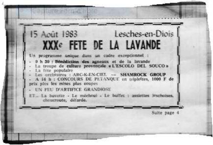 Annonce JDD XXX ème Fête