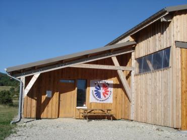 Entrée Club-house hangar ULM