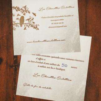 Carte Cadeau Les Chouettes Culottées