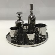 """Luxury and degradation - """"Baccarat Crystal Cocktail Service Set"""" // 1986"""