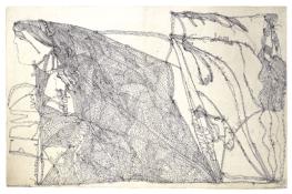 Laure sans titre, entre le 14 et le 23 juillet 1946 cahier, encre sur papier 32 x 50 cm © crédit photographique Collection de l'Art Brut, Lausanne
