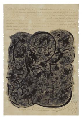 Tripier, Jeanne Vénus et sa succursale astrologique divine, 1937 encre sur papier 31 x 21 cm © crédit photographique Collection de l'Art Brut, Lausanne