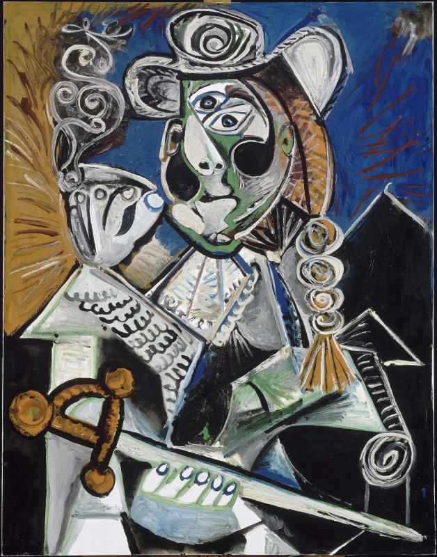 Pablo Picasso, Le matador, Mougins, 4 octobre 1970 Huile sur toile 145,5 x 114 cm / MP 223, 13690 Musée Picasso-Paris / Photo © RMN-Grand Palais (musée Picasso de Paris) / Jean-Gilles Berizzi © Succession Picasso 2016