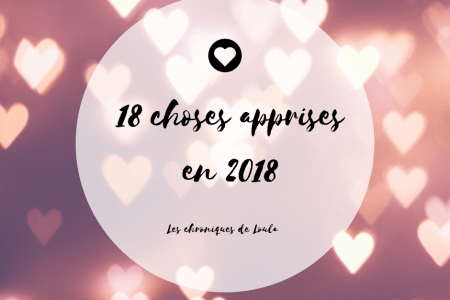 Article - 18 choses apprises en 2018