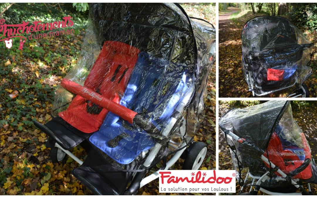 Lidoo Kiss une poussette double confortable et maniable Familidoo