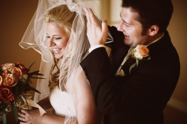 Bride and Groom. Hair and make up done by Les Ciseaux St. Armands