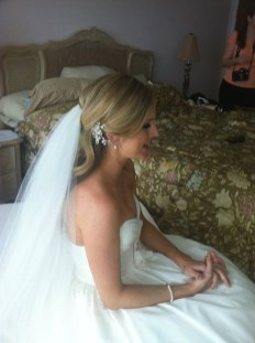 Wedding hair with veil done by Les Ciseaux St. Armands