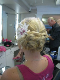 Wedding hair style by Les Ciseaux St. Armands