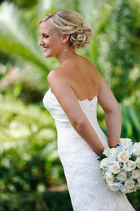 Beautiful bride Les Ciseaux Salon St. Armands Sarasota Beach Wedding Hair-Stylist