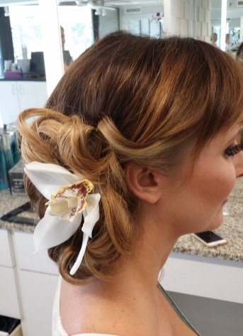 Sarasota wedding hair flowers