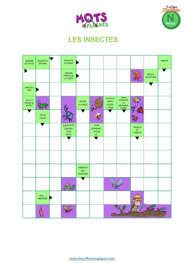 Mots fléchés insectes p2