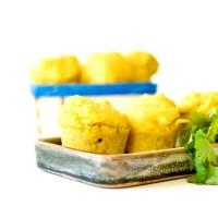 Minis Cakes au Maïs & à la Coriandre - à garnir, ou non !