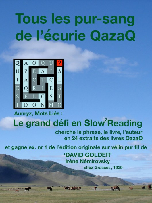 Couverture Défi Slow Reading