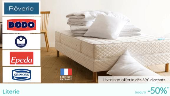 ventes flash la redoute textile electromenager et literie jusqu a 50