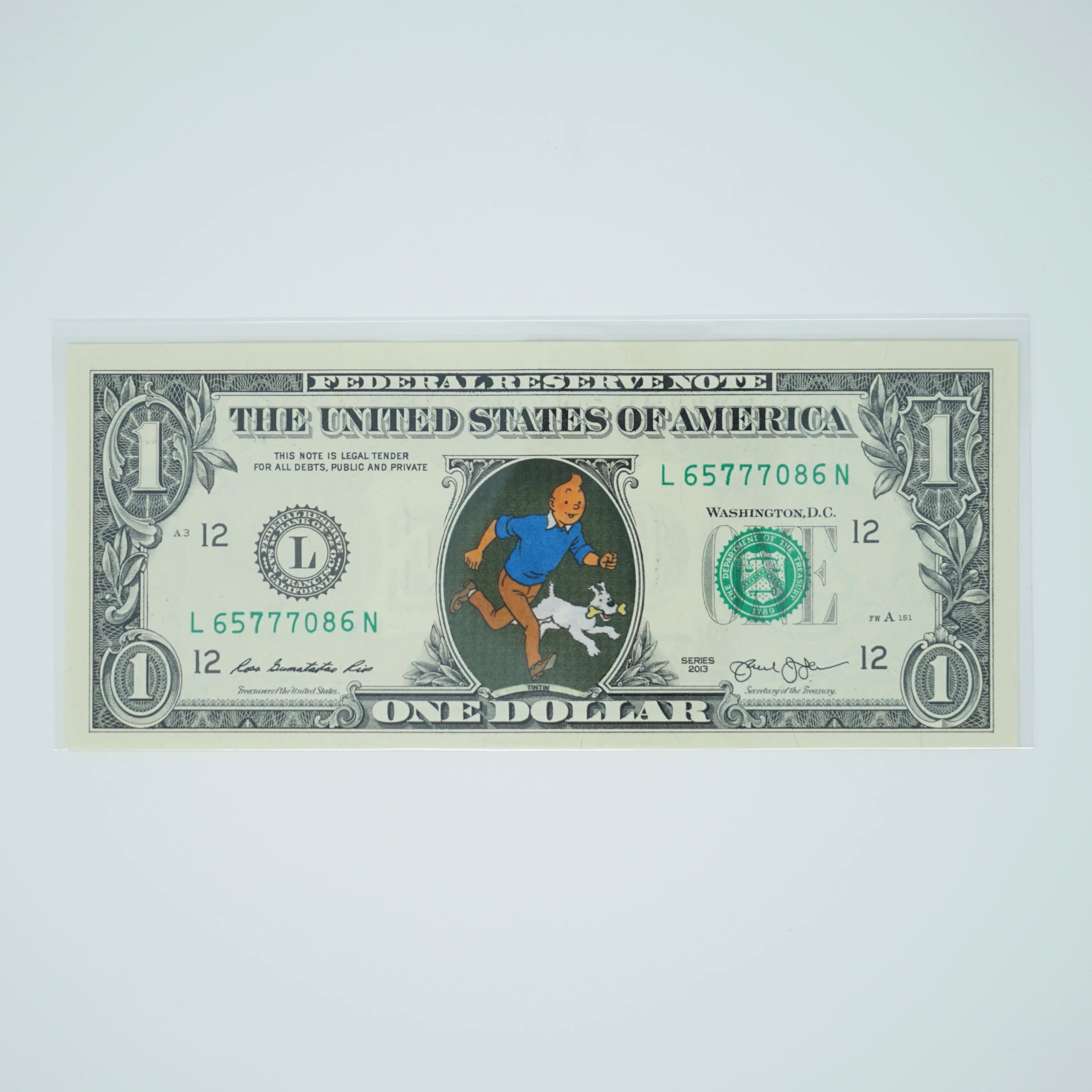 Billet 1 Dollar Tintin Recto