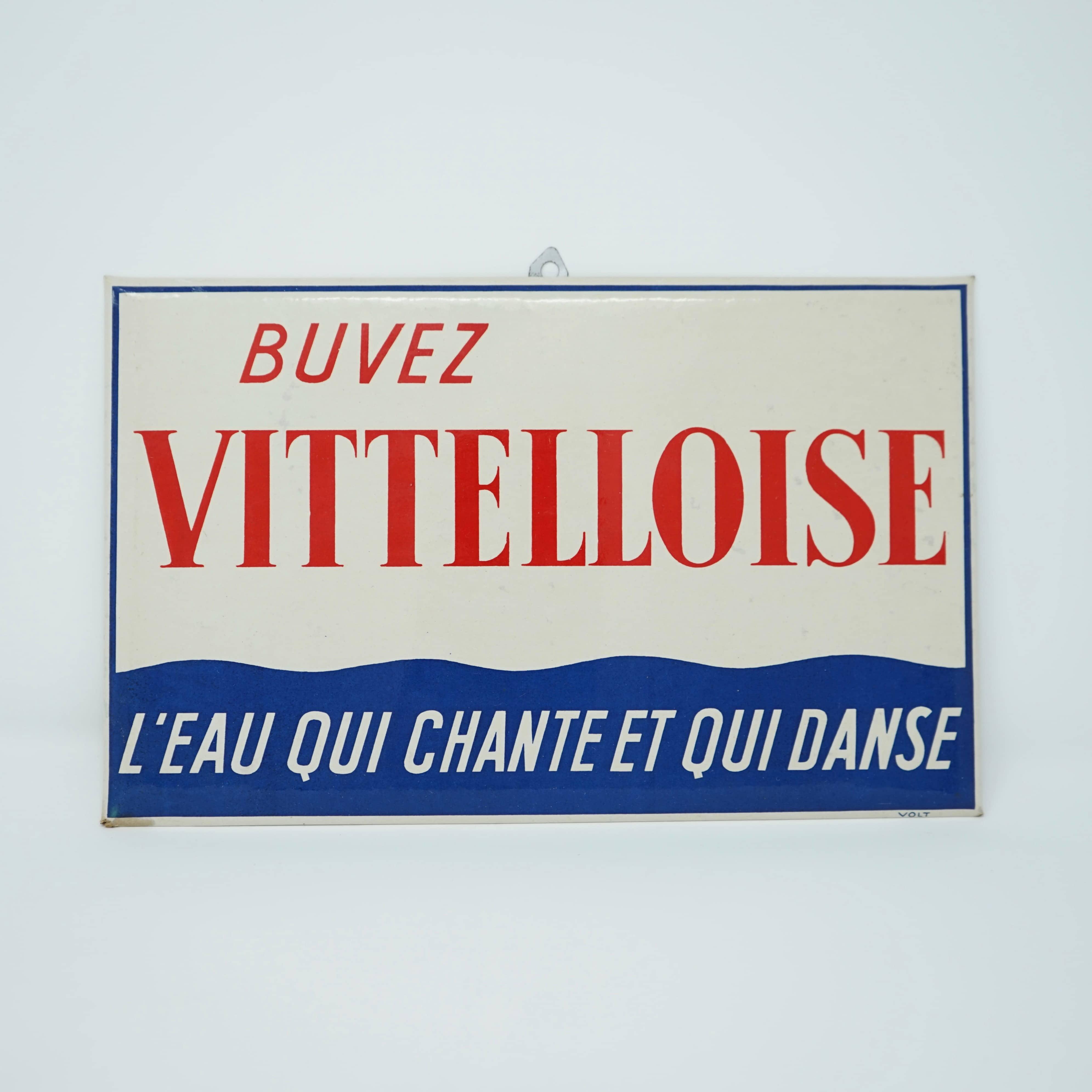 Plaque Publicitaire Vittelloise