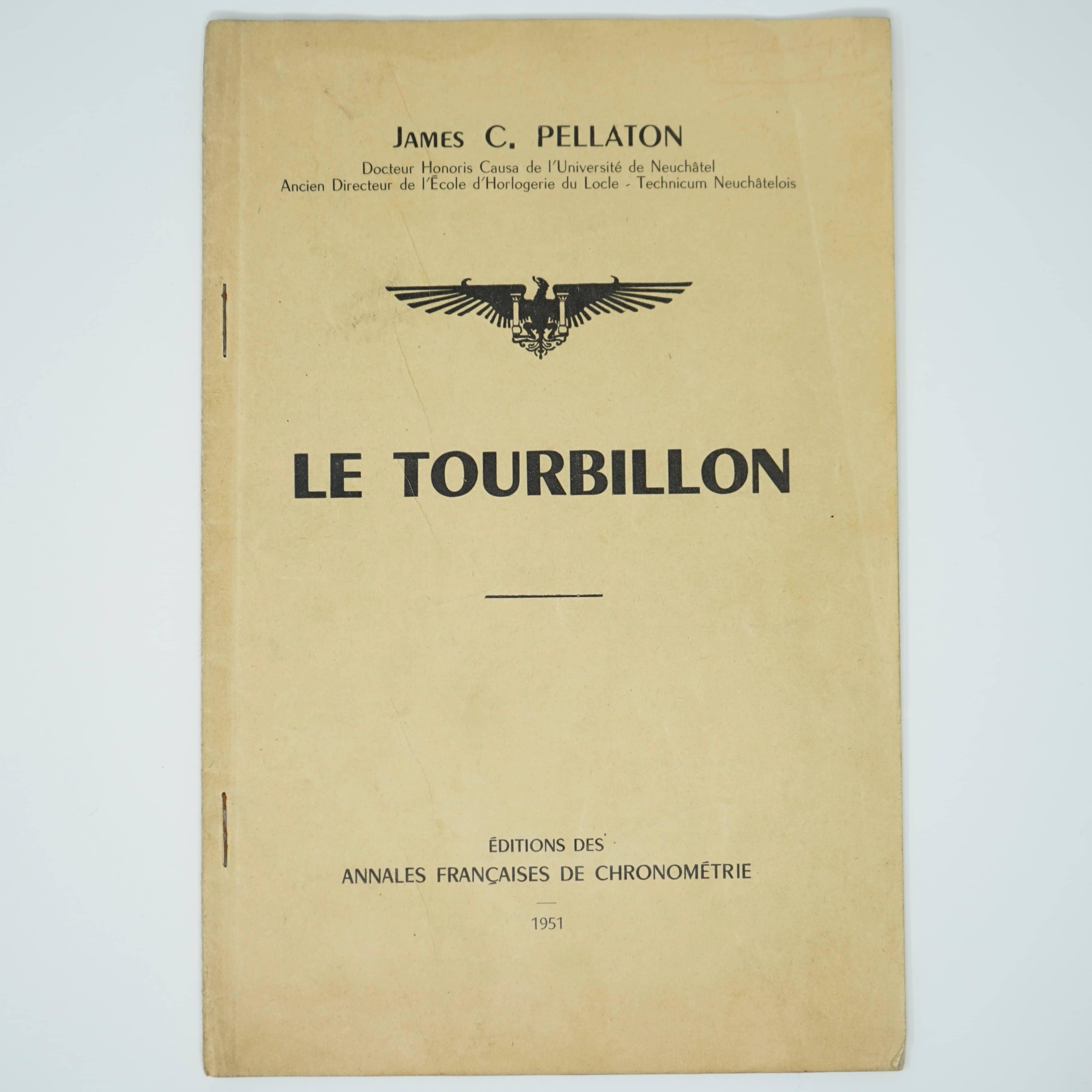Ouvrage Le Tourbillon Par James C.Pellaton en 1951