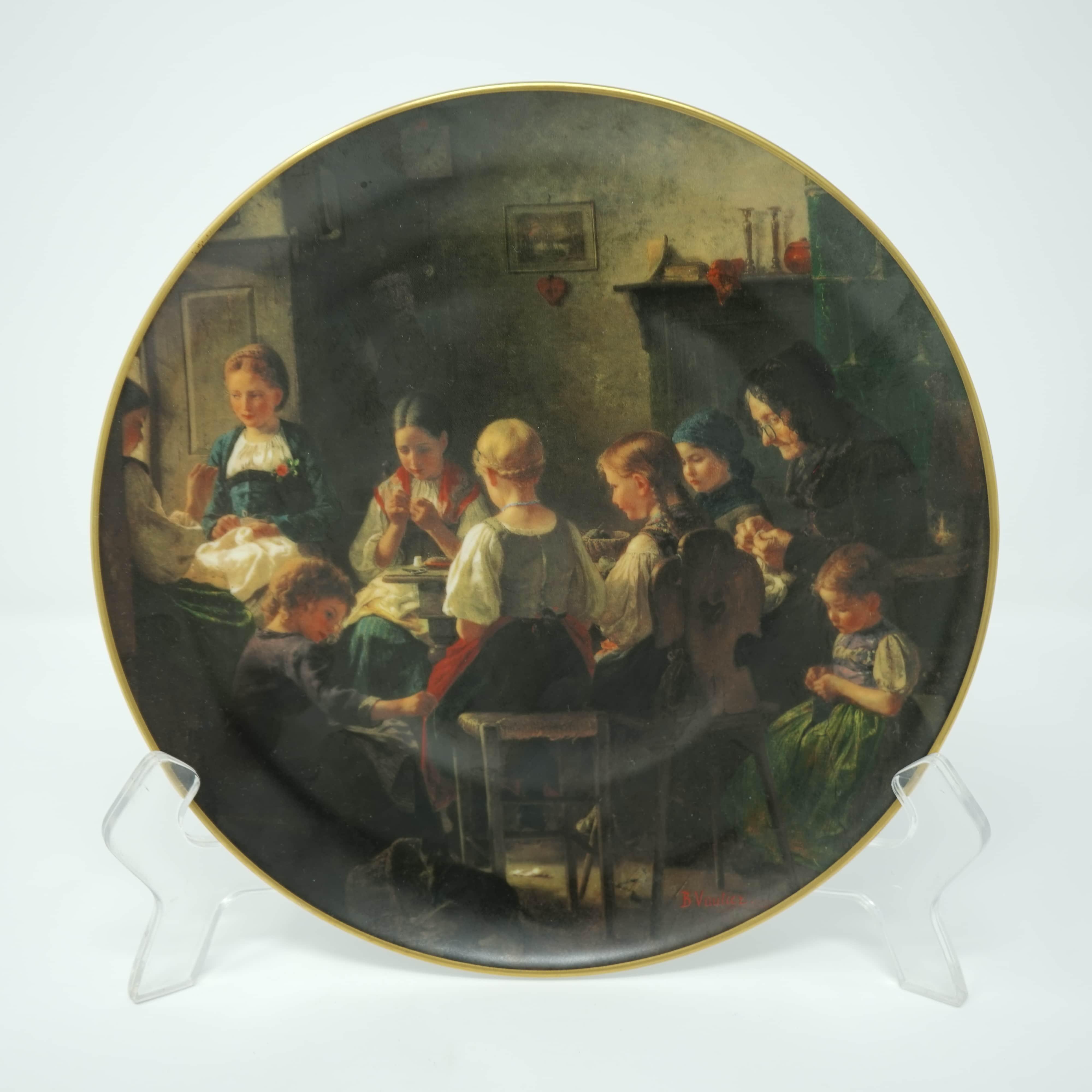 Assiette signé Benjamin Vautier