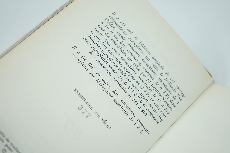 Livre Discours de Suède d'Albert Camus Numéroté 377/800 Preuve
