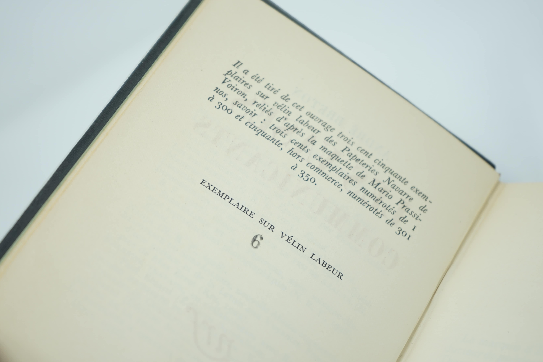 Livre Les Vases Communicants d'André Breton Numéroté 6/300 Preuve
