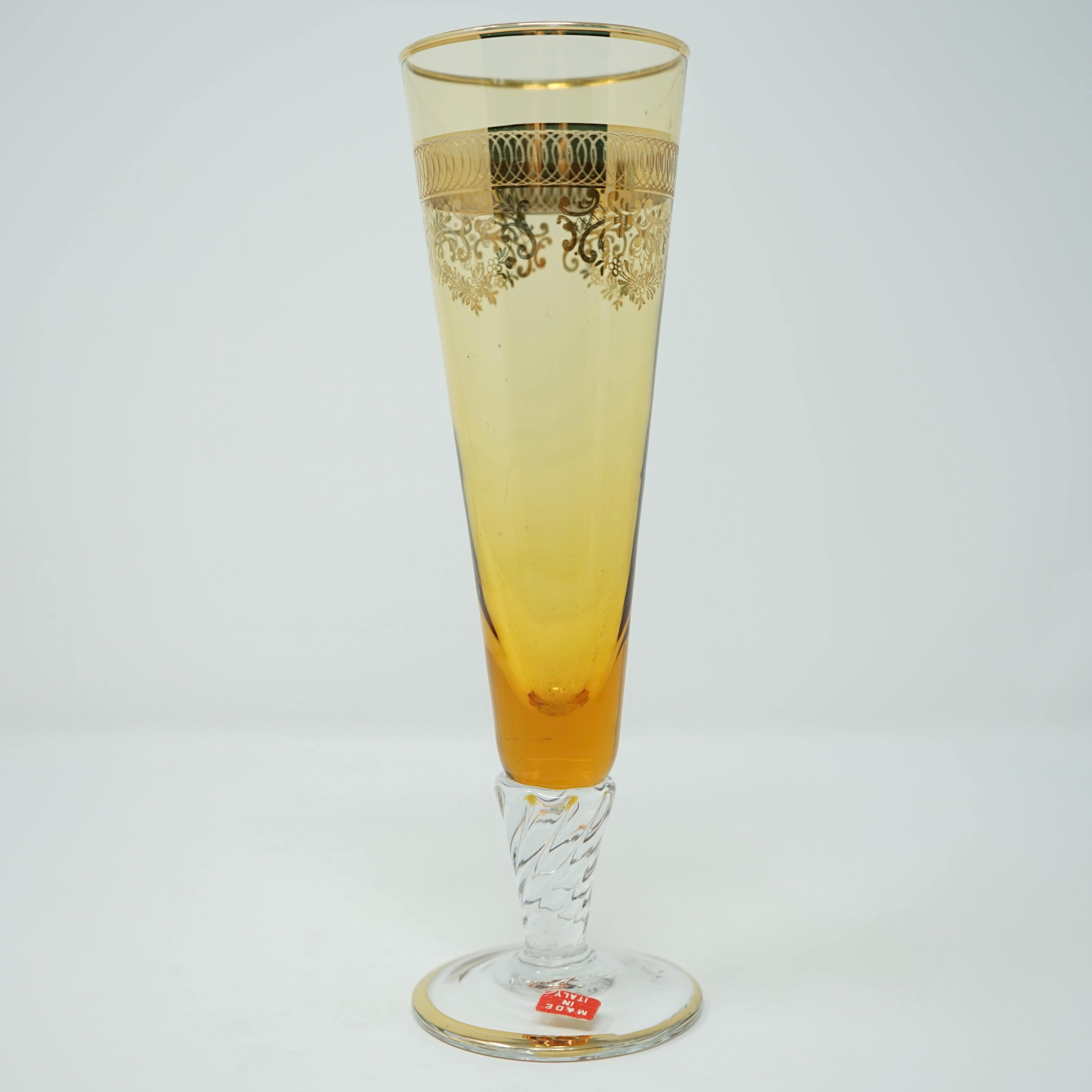 Verres à Champagne Italiens Ambre