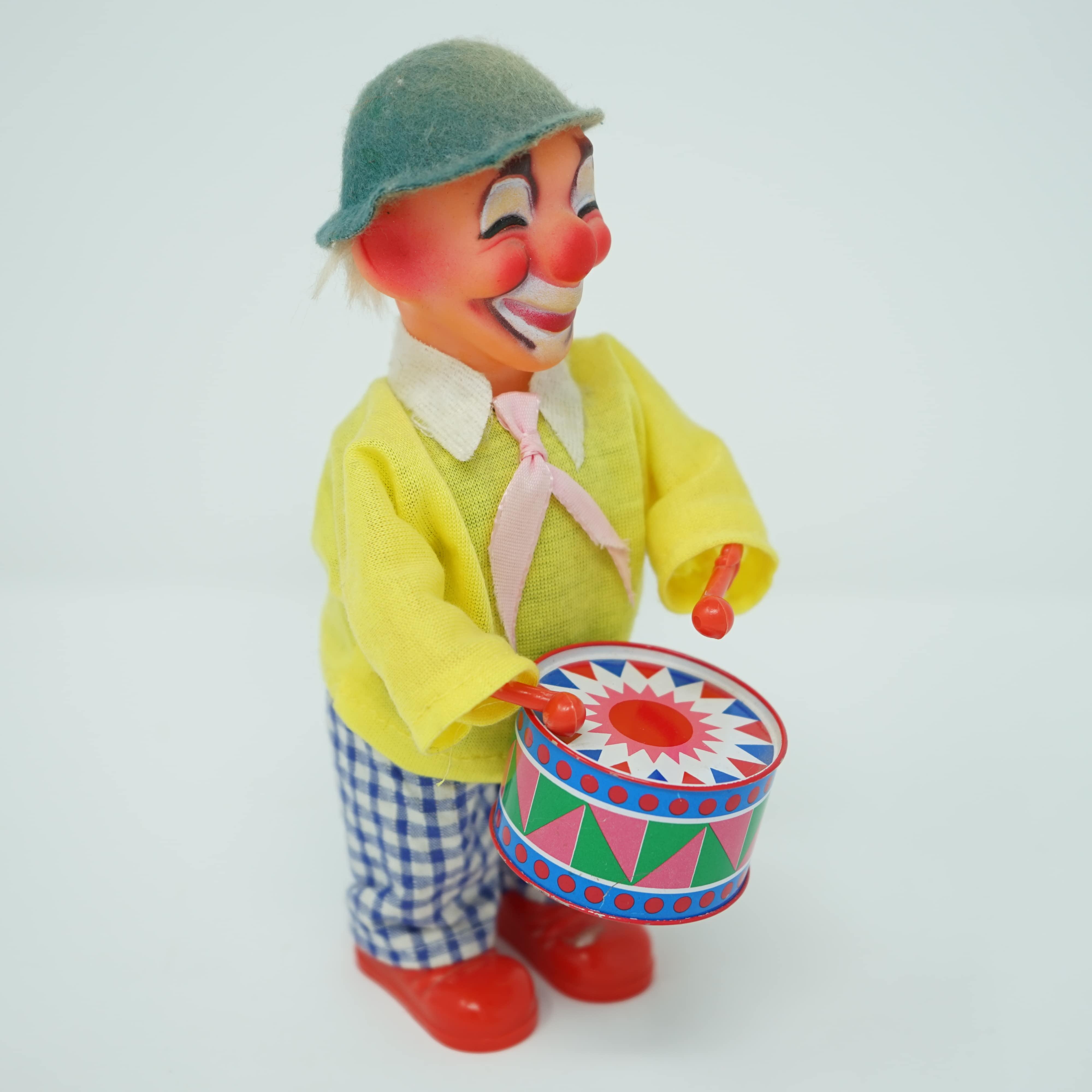 Clown Jouet Mécanique des Années 1960/1970
