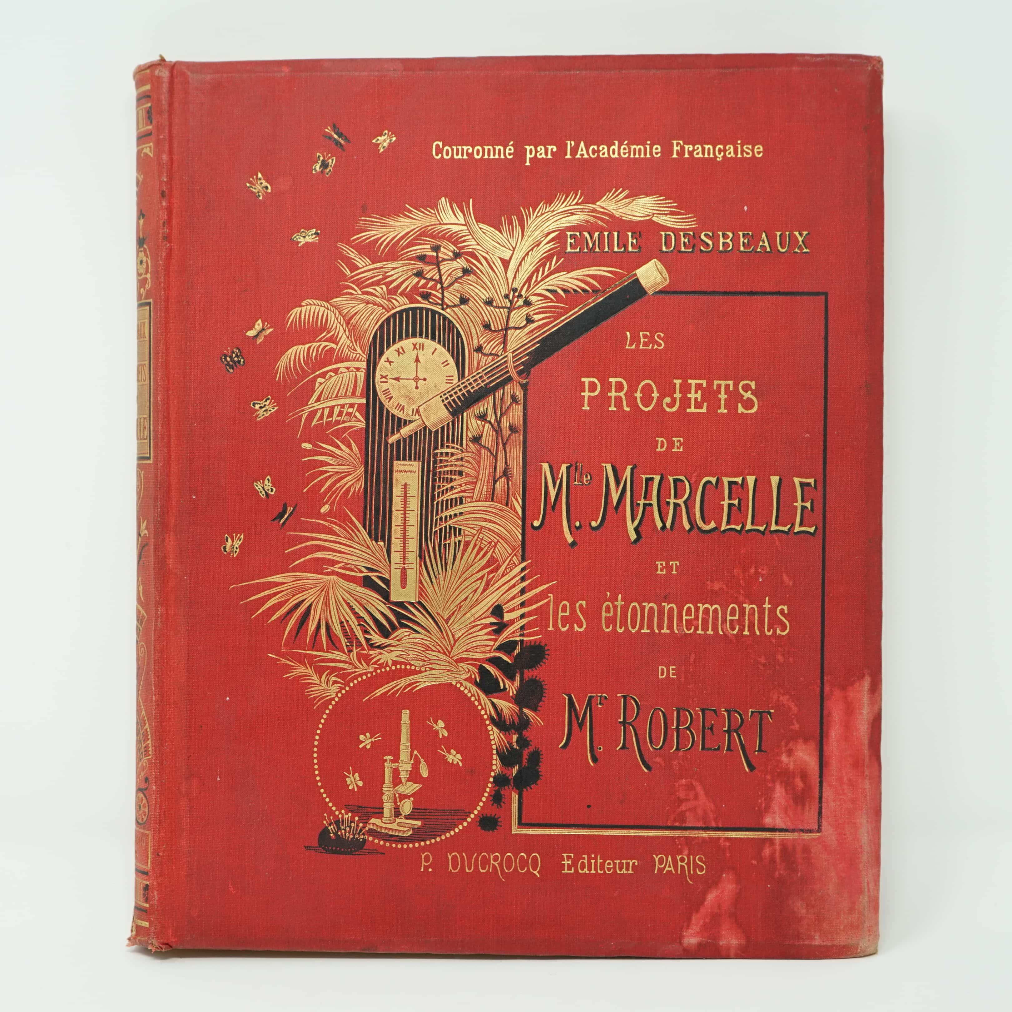 Livre Les Projets de Mademoiselle Marcelle Et Les Étonnements de Monsieur Robert
