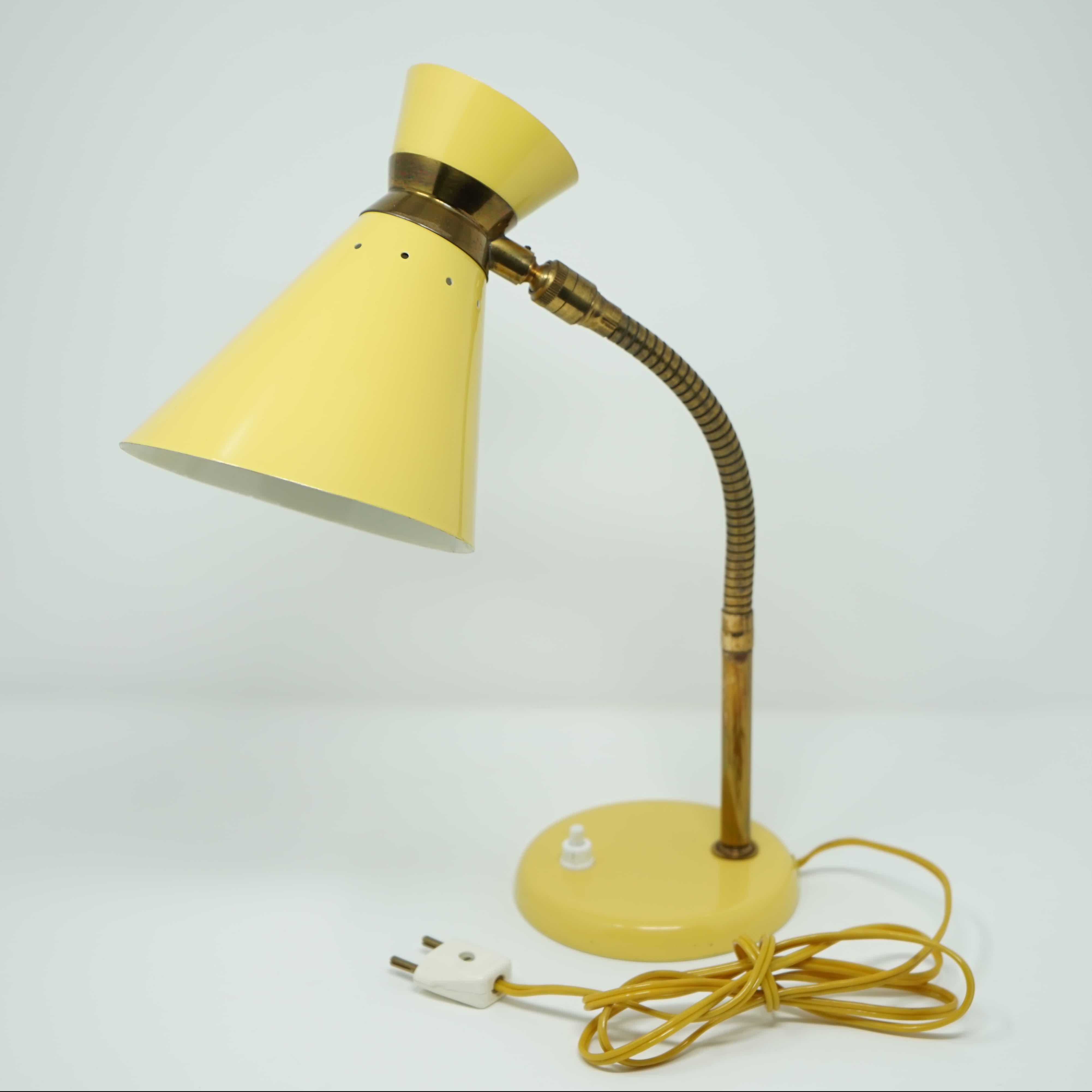Lampe Diabolo Jaune Années 50