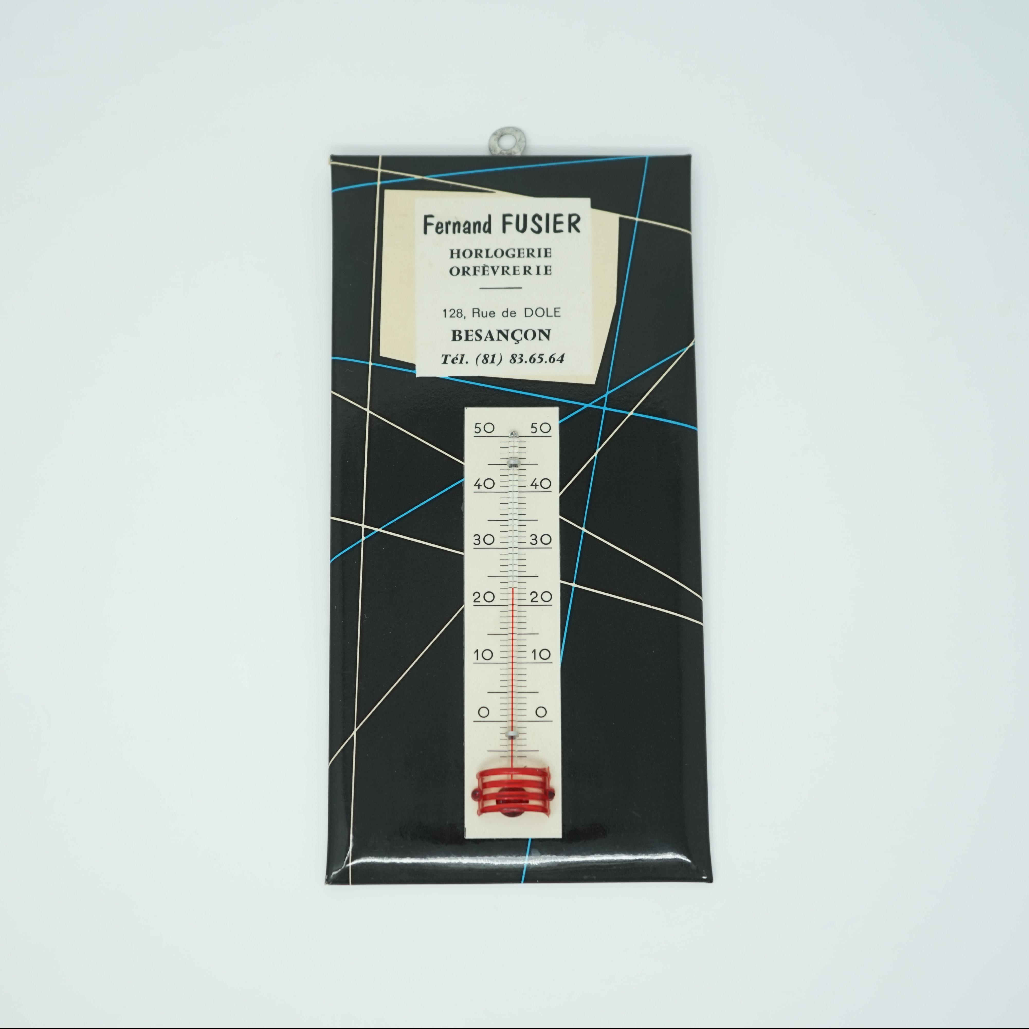 Thermomètre publicitaire Horloger