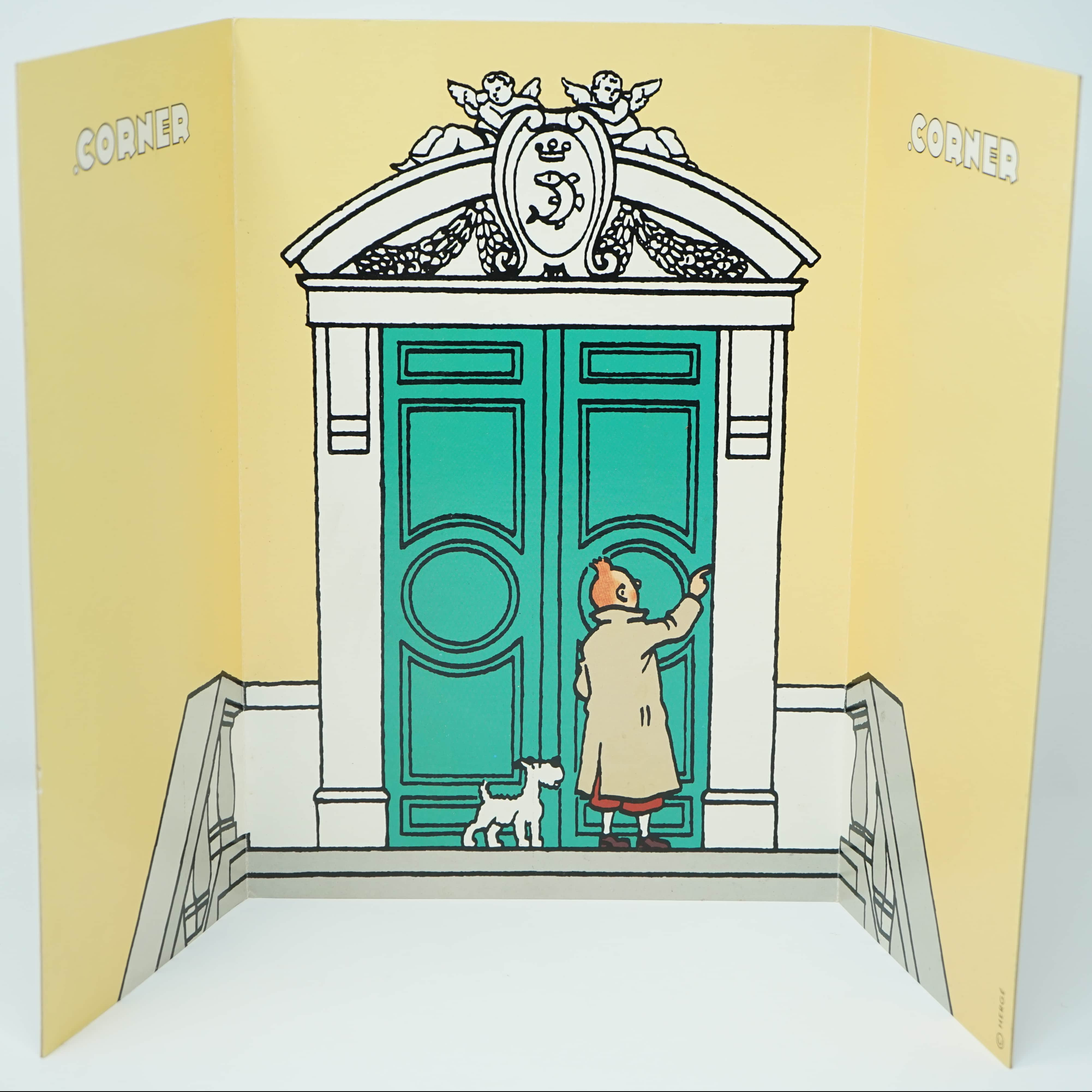 Présentoir en Carton Tintin Corner