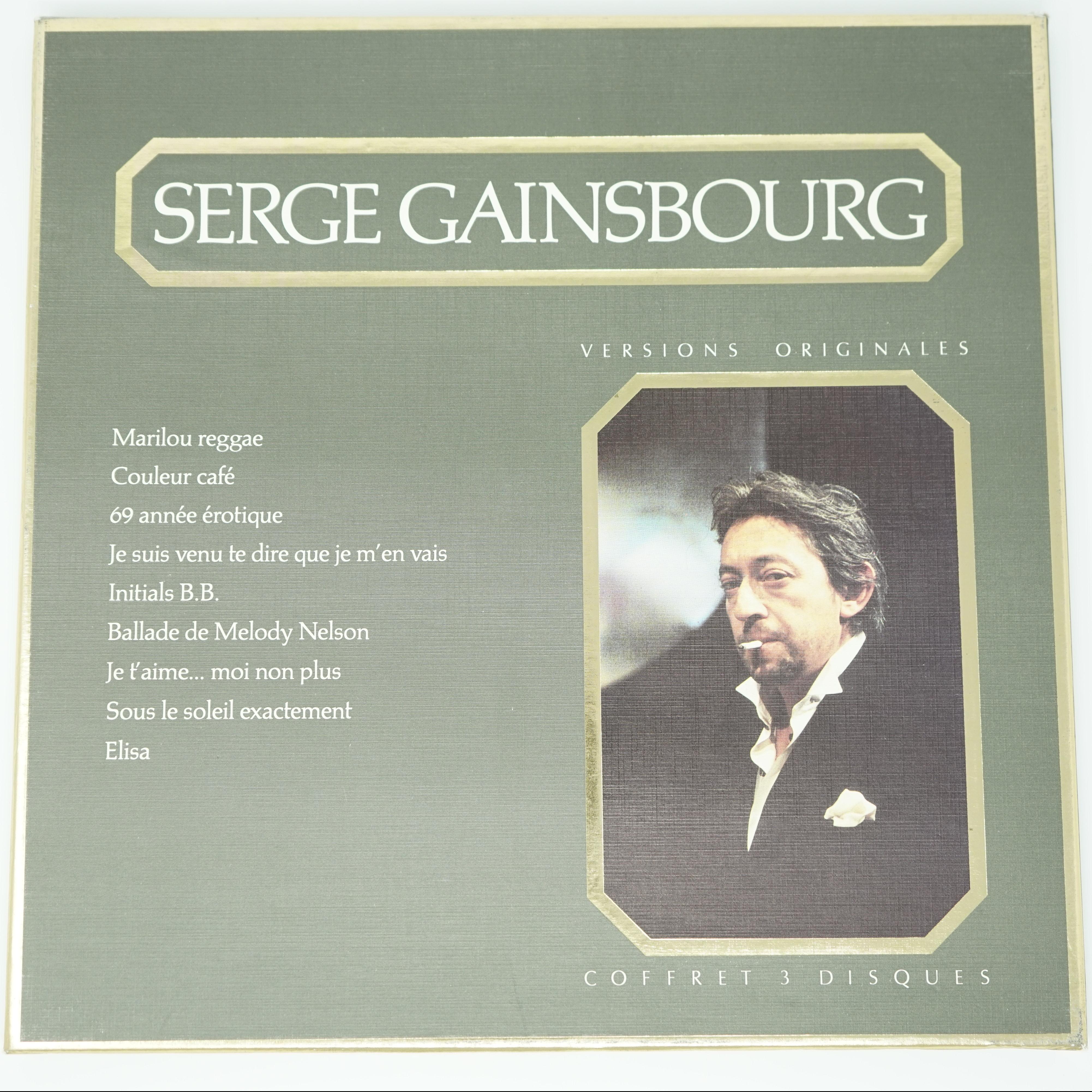 Coffret Trois Disques Serge Gainsbourg