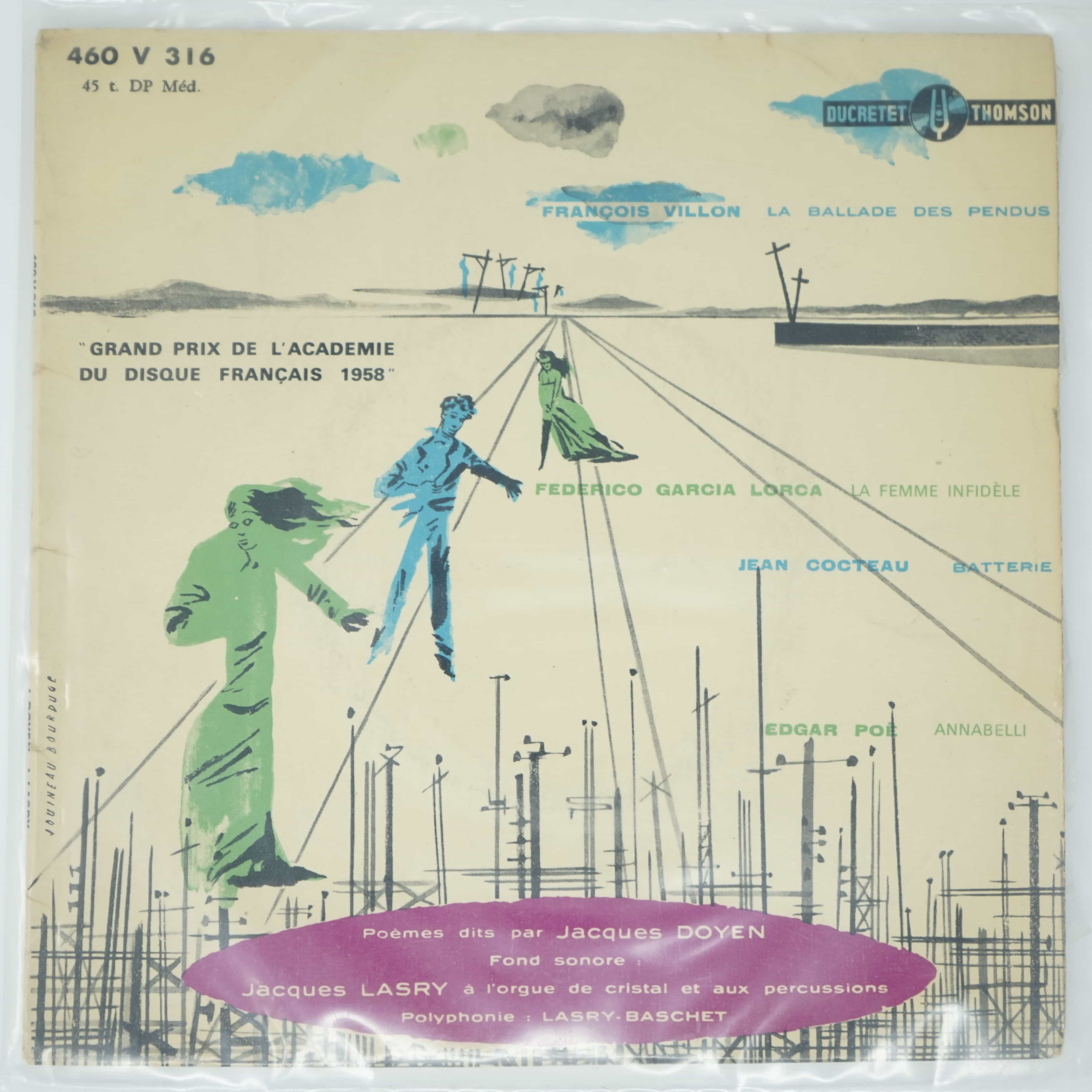 Vinyle Poèmes par Jacques Doyen
