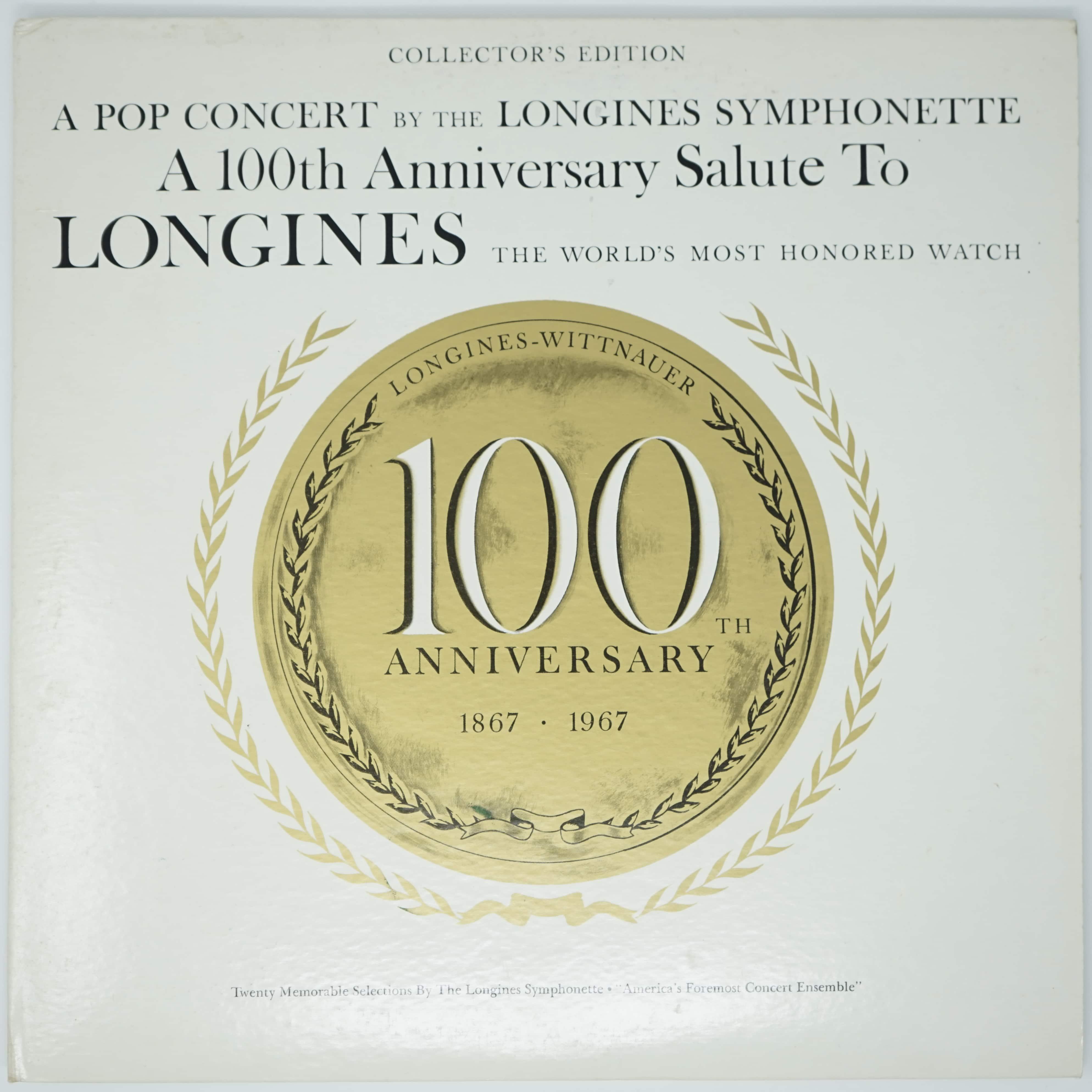 Vinyle Anniversaire 100 Ans Longines